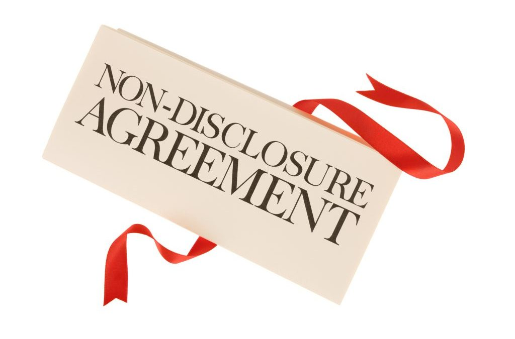 Sign A NonDisclosure Agreement